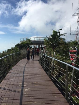 langkawi island: Love lock on top of langkawi island