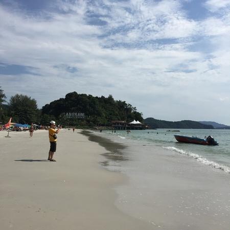 langkawi: Chenang beach in Langkawi Stock Photo