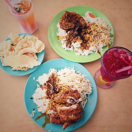 penang: Penang famous dish,nasi kandar
