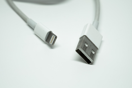 charger: Used USB male charger and data lead cable