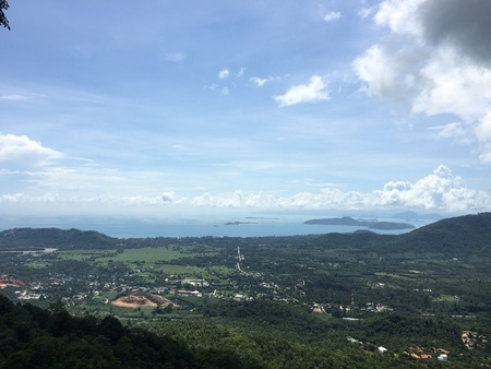 view: Samui island view from the top of mountain Stock Photo