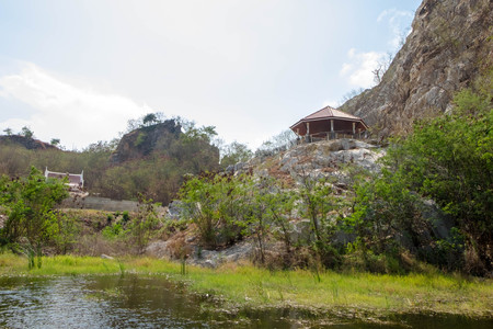 Public rest-house on hill in Khao-Ngu mountain park, Ratchaburi Province.