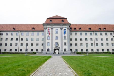 May 6, 2017 - Saint Gallen, Switzerland: Klosterhof, a part of building surrounded Saint Gallen Cathedral.