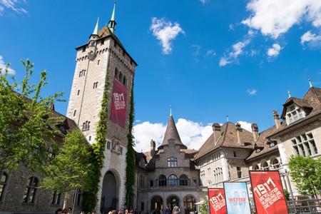 May 13, 2017 - Zurich, Switzerland: Swiss national museum, locates in Old city district in Zurich, next to Hauptbahnhof.