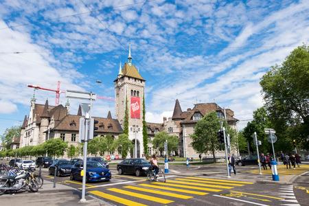 May 14, 2017 - Zurich, Switzerland: Swiss national museum,  locates in Old city district in Zurich, next to Hauptbahnhof.