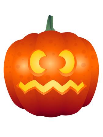 A vector illustrations of a Halloween face pumpkin Illustration