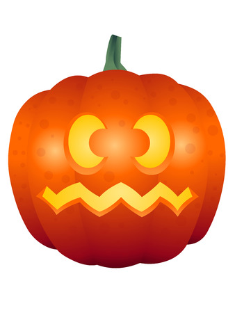 squiggly: A vector illustrations of a Halloween face pumpkin Illustration