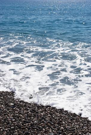 seacoast: Blue water on the seacoast  Stock Photo