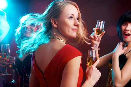 Portrait of happy young girl on the party  Stock Photo - 10470500