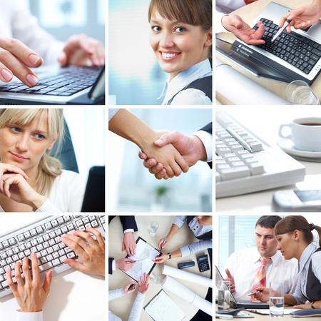 soumis: collage de photographies sur le th�me d'une entreprise prosp�re