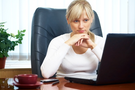 Portrait of a beautiful young successful businesswoman in the workplace Stock Photo - 10561882