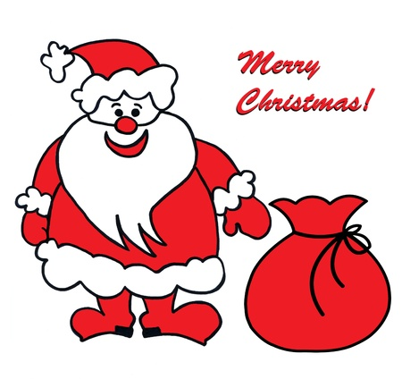 Child's drawing of Santa Claus Stock Photo - 10599784