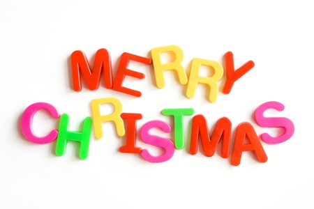 Simple text: merry christmas  Stock Photo - 10928661