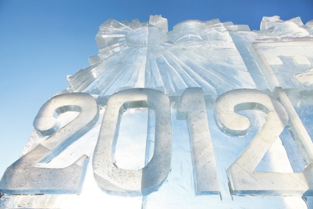 Ice sculpture figures in 2012 made of ice photo