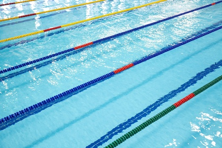 swimming competition: Image of swimming pool. The top view