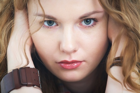 Portrait of  beautiful  young woman  photo