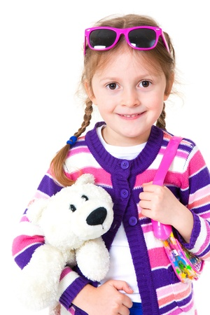Portrait of pretty preschooler girl  photo