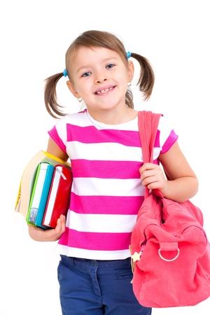 ni�os jugando en la escuela: Retrato de ni�a de la escuela bastante