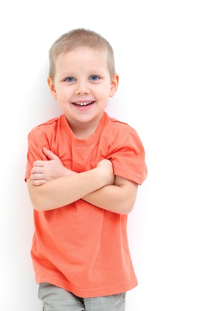 boys only: Portrait of funny little boy Stock Photo