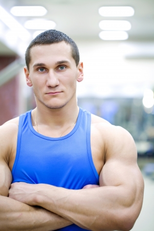 handsome muscular man  in gym   Stock Photo - 19754485