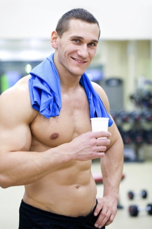 handsome muscular man  in gym   Stock Photo - 19754484