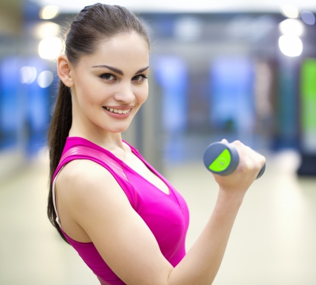 portrait of  young woman in sport gym Stock Photo - 19773748