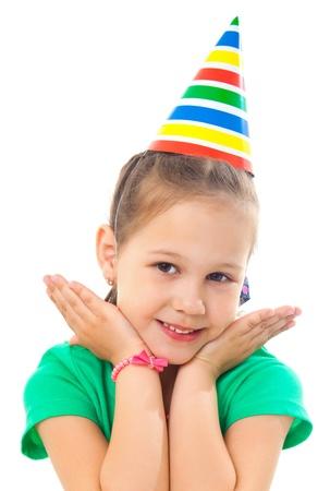 Portrait de petite fille mignonne à la fête