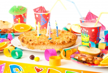 paper plates: Table set up for a childs party