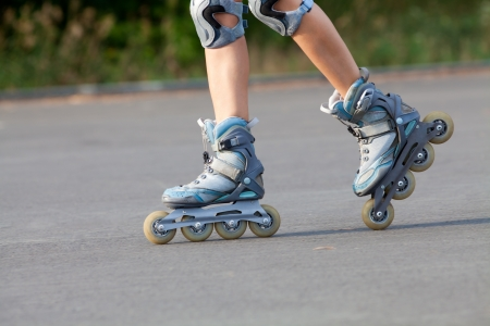 roller skates on beautiful girl Stock Photo - 21606709