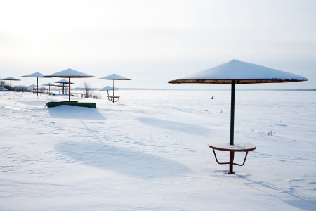 recreational area in the winter  photo