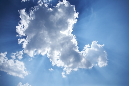 clouds in sky:  beautiful cloud in a sunny sky