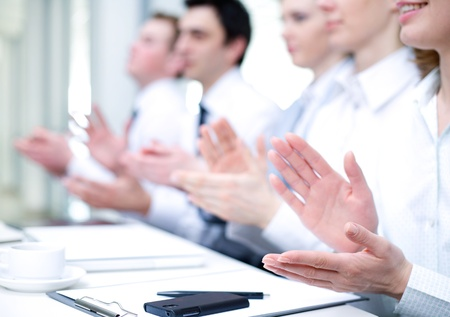 Photo of business partners hands applauding at meeting  Stock Photo - 21894587