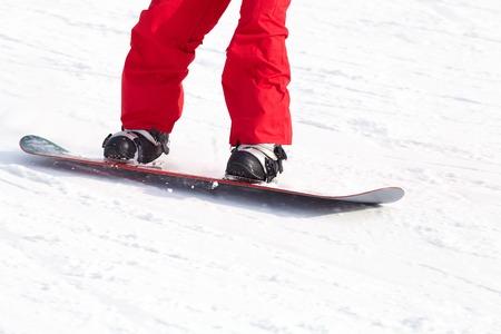 unrecognizable snowboarder on ski resort Stock Photo - 22361102