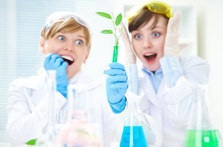 herbal knowledge: Scientific discovery in the biology  lab Stock Photo