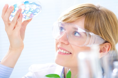 Scientific discovery in the chemical lab Standard-Bild
