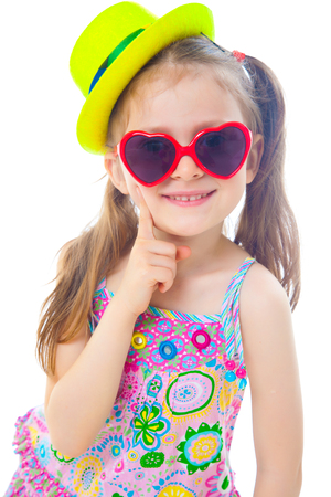 Portrait of cute little girl at party Stock Photo