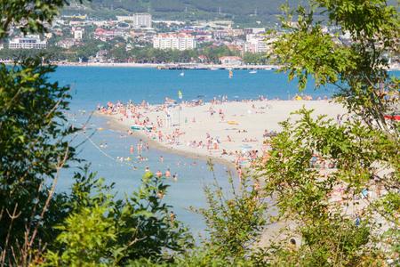 Summer vacation on the coast of the Black Sea resort of Gelendzhik. Russia, June 2015.