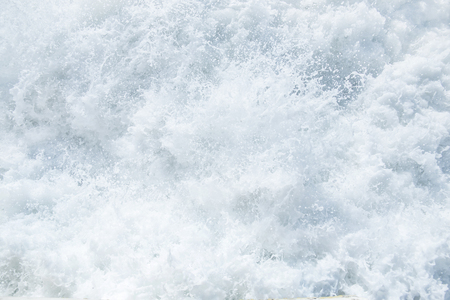 Beautiful forms of sea foam during a storm Stock Photo