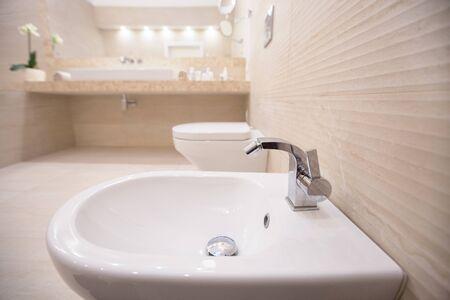 modern bathroom interior in white colour