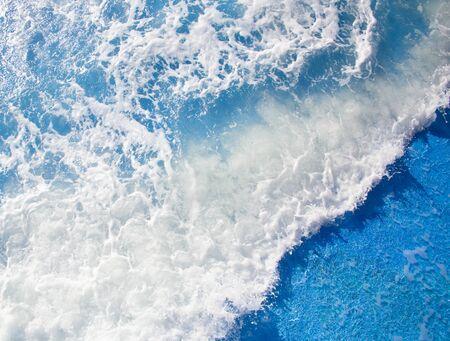 Beautiful forms of sea foam during a storm Archivio Fotografico