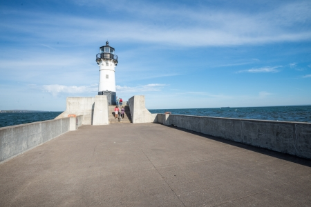 Public light house built on harbor Lake Superior
