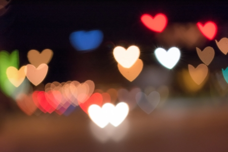 Background of out of focus area beautifully rendered in heart shape