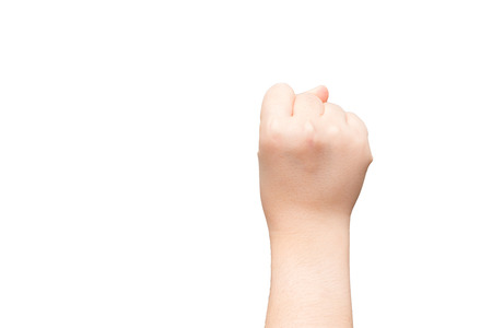 Human hand with closed fist  photo