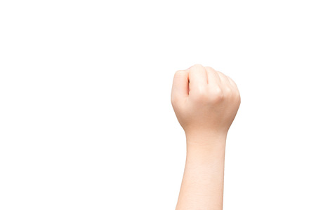 closed fist: Human hand with closed fist  Stock Photo