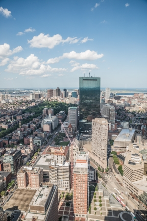Cityscape view of downtown Boston and its surrounding urban Stock Photo - 24401879