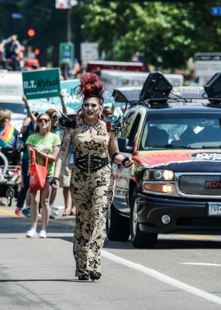 Minneapolis, Minnesota - June 30: Twin Cities LGBT Pride Parade 2013, in Minneapolis,MN, on June 30, 2013.
