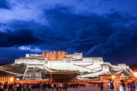 LHASA, TIBET, CHINA - SEPTEMBER 5: Potala Palace in Tibet, in Lhasa, Tibet, China on September 5, 2013.