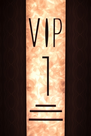 important: Very Important Person VIP sign with fiery  Stock Photo