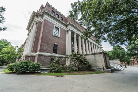 Boston, Massachusetts - July 5, 2013: Widener Library of Harvard University, July 12, 2013.