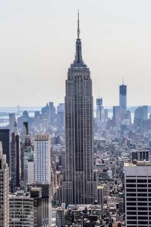 New York City, New York - September 4: Empire State Building with its surrounding, in New York City, NY, on September 4, 2013 Editorial